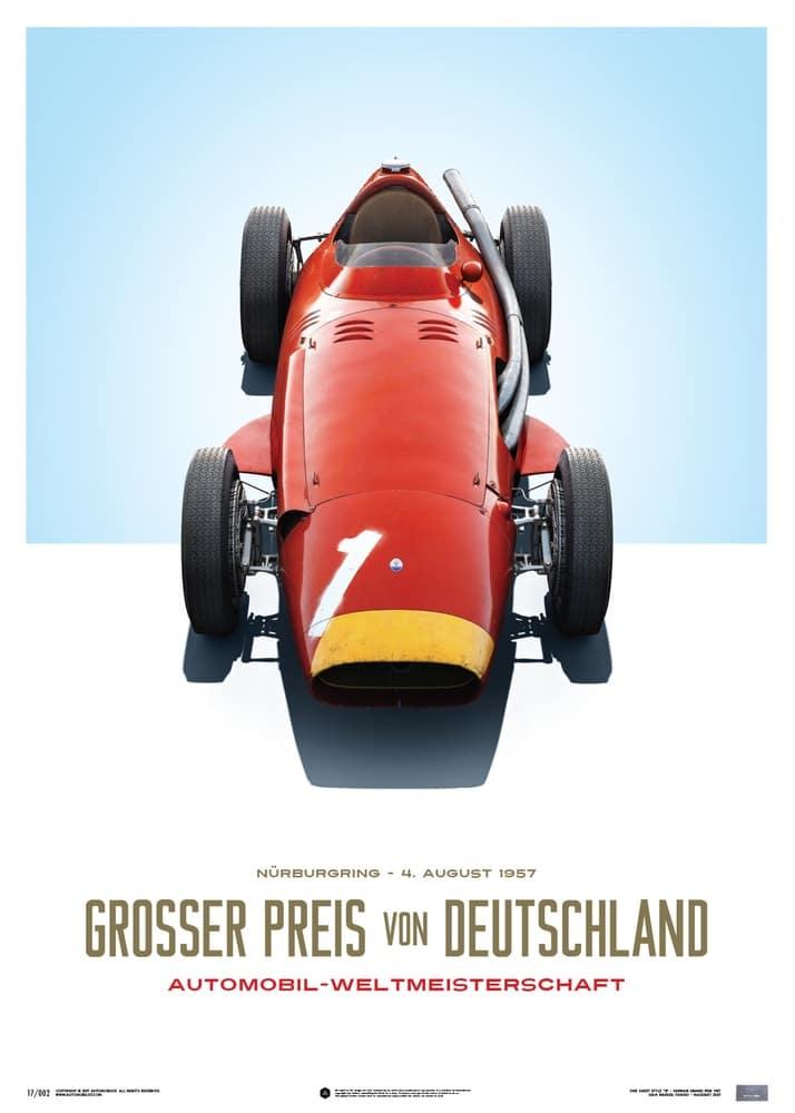 Maserati 250F – Juan Manuel Fangio – Red – German GP – Limited Poster