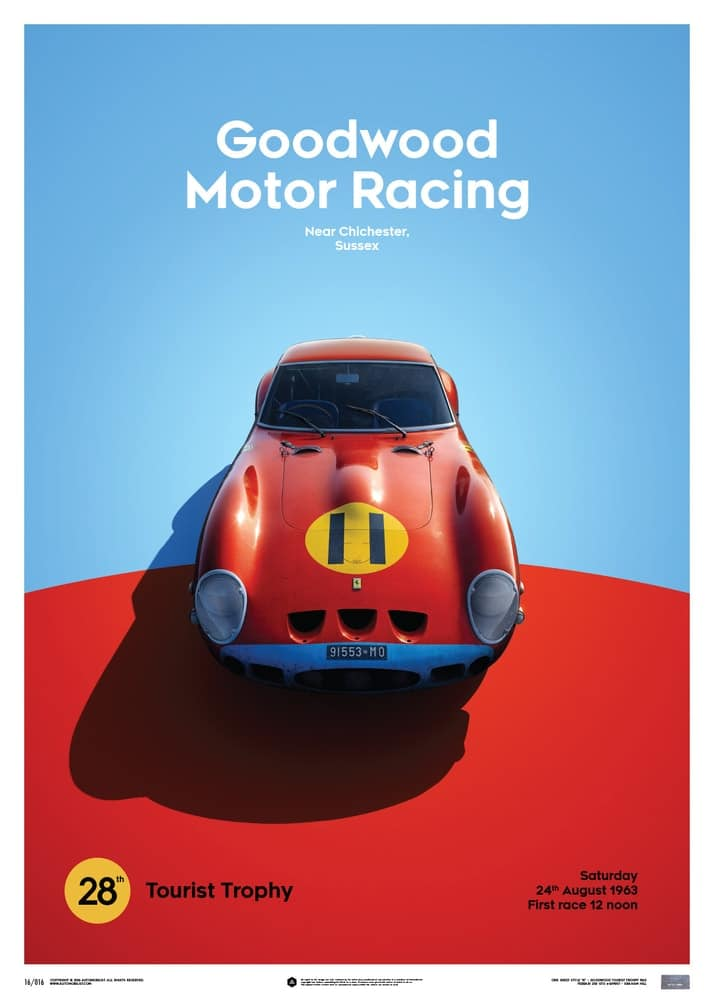 Ferrari 250 GTO – Red – Goodwood TT – 1963 – Limited Poster