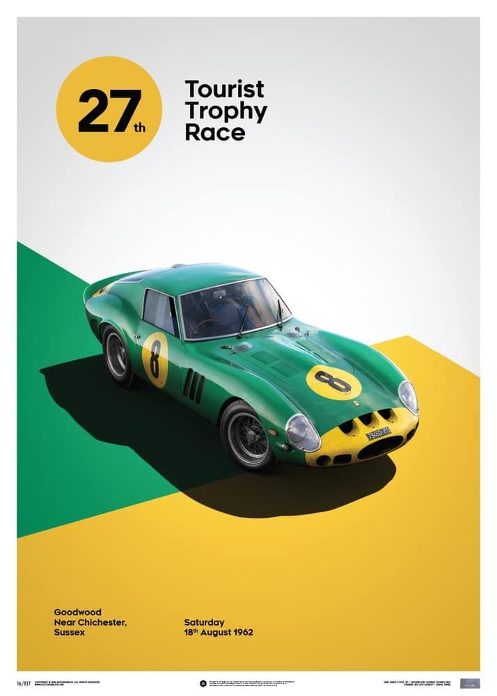 Ferrari 250 GTO – Green – Goodwood TT – 1962 – Limited Poster