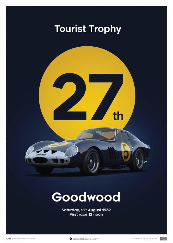 Ferrari 250 GTO – Dark Blue – Goodwood TT – 1962 – Limited Poster