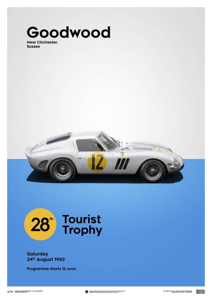 Ferrari 250 GTO – White – Goodwood TT – 1963 – Limited Poster