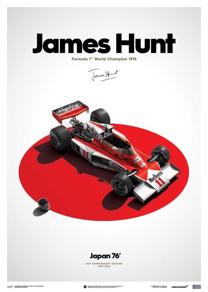 McLaren M23 – James Hunt – Japan – Japanese GP – 1976 – Limited Poster