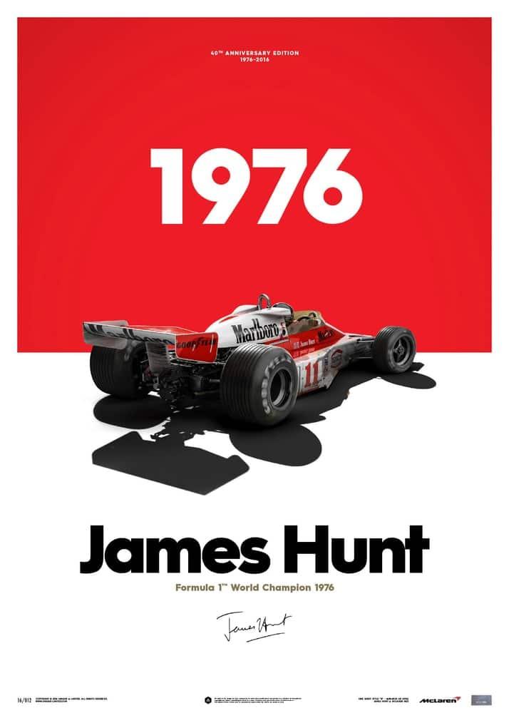 McLaren M23 – James Hunt – Marlboro – Japanese GP – 1976 – Limited Poster