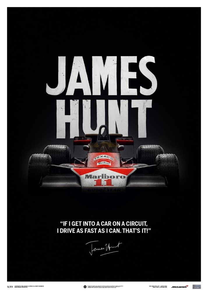 McLaren M23 – James Hunt – Quote – Japanese GP – 1976 – Limited Poster