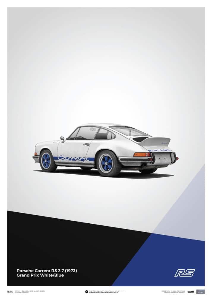 Plakat Porsche 911 RS – White – Limited Poster