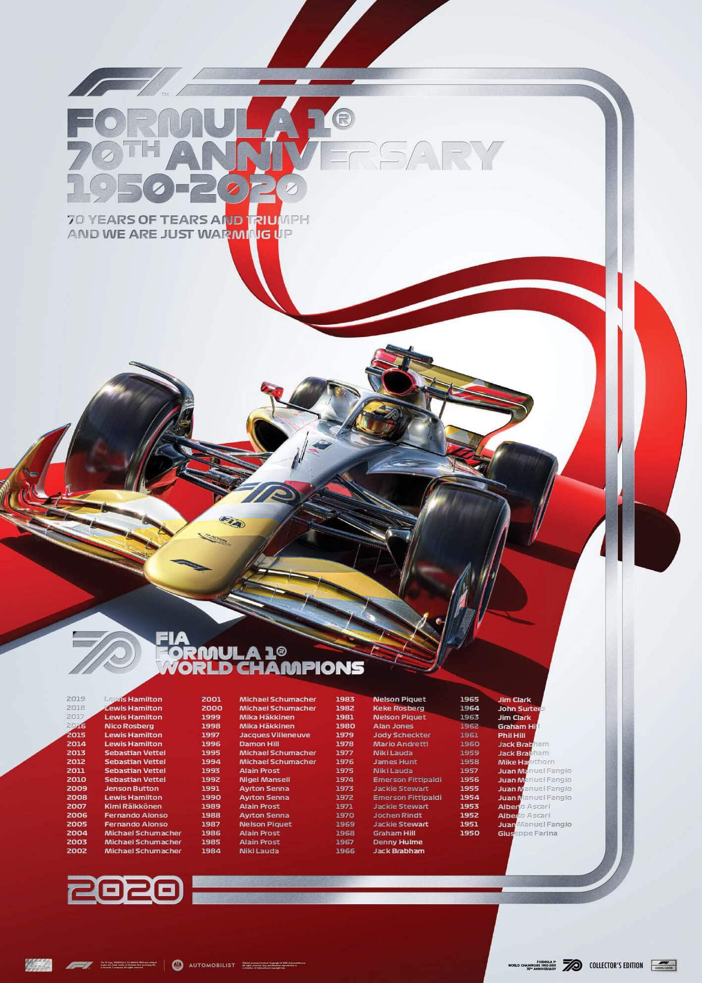 FIA FORMULA 1® WORLD CHAMPIONS 1950-2019 – 70TH ANNIVERSARY   Collector's Edition