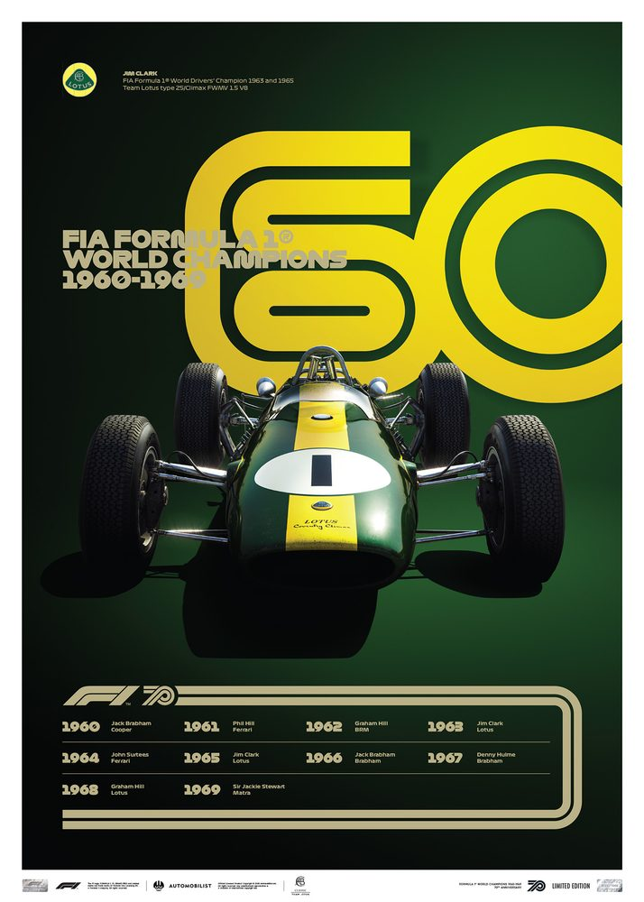FORMULA 1® DECADES – 60s Team Lotus   Limited Edition