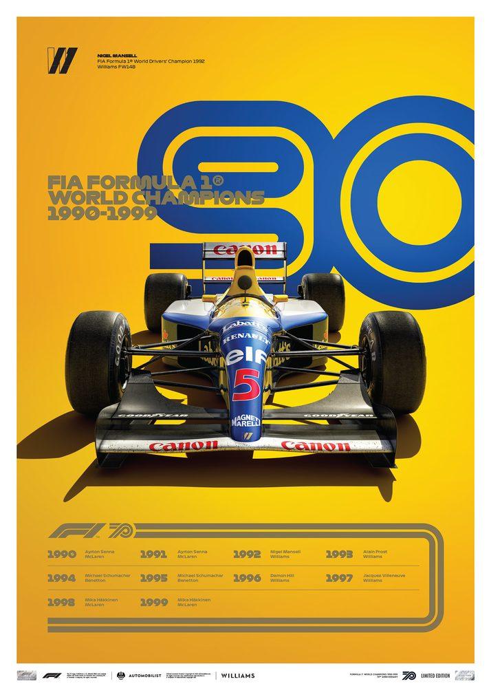 FORMULA 1® DECADES – 90s Williams | Limited Edition
