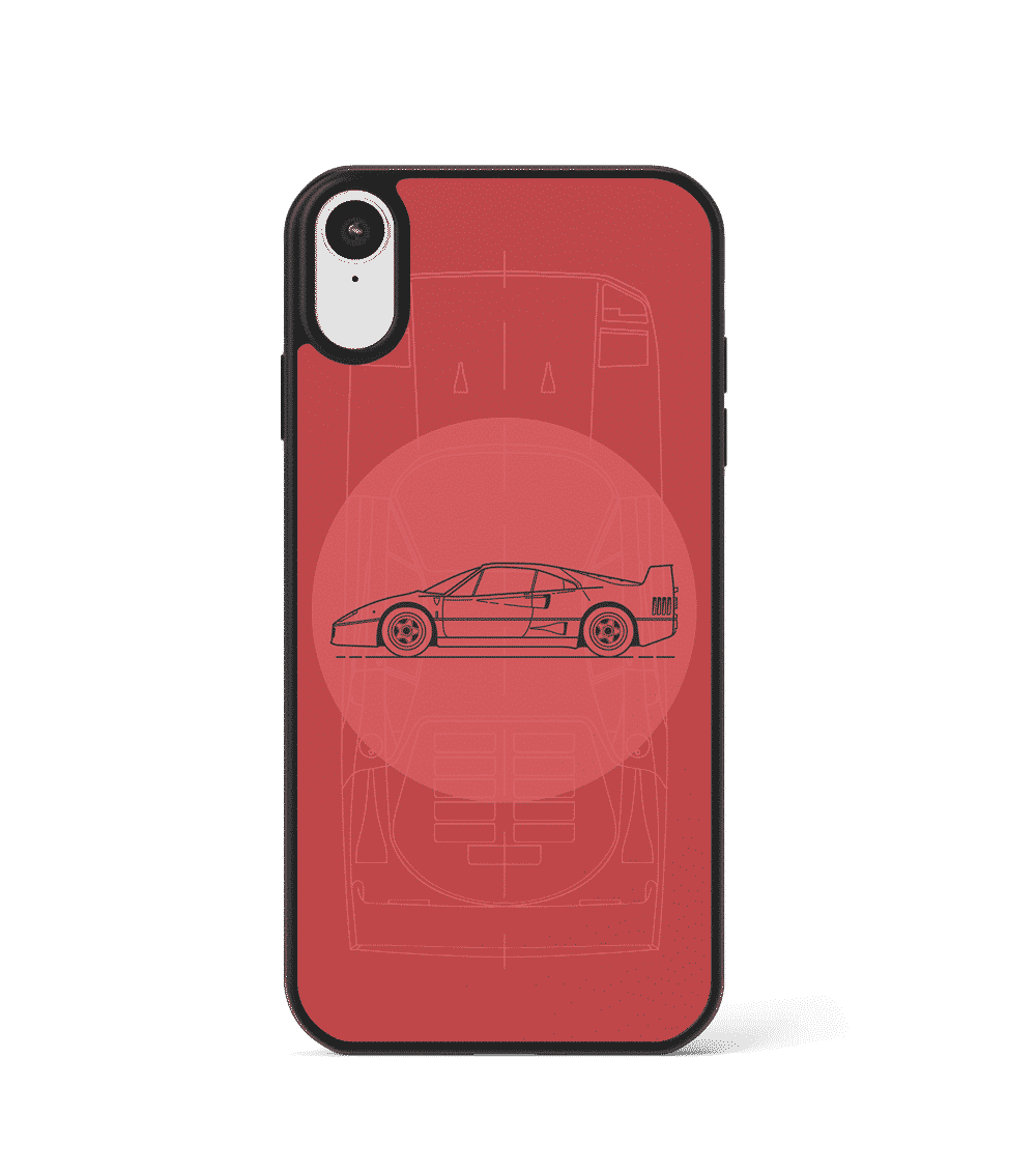Case GLASS na telefon z Ferrari F40
