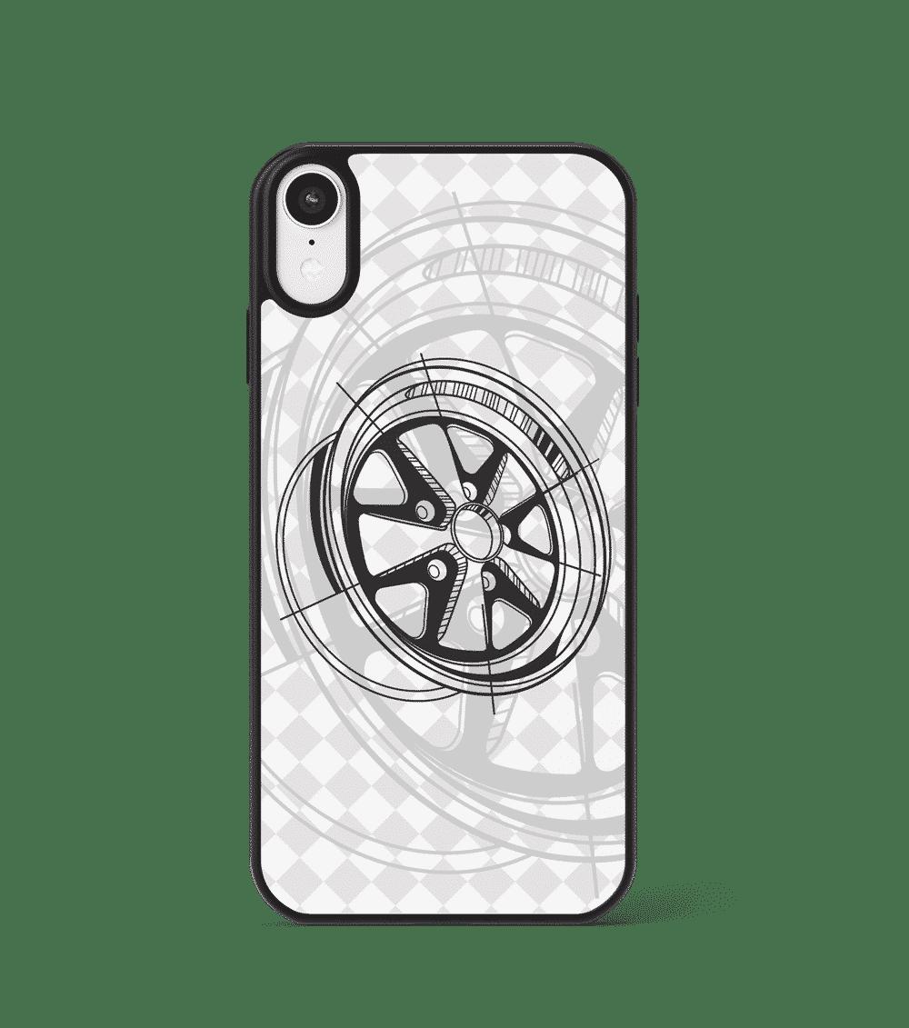 Etui GLASS z klasyczną felgą FUCHS 'Porsche'