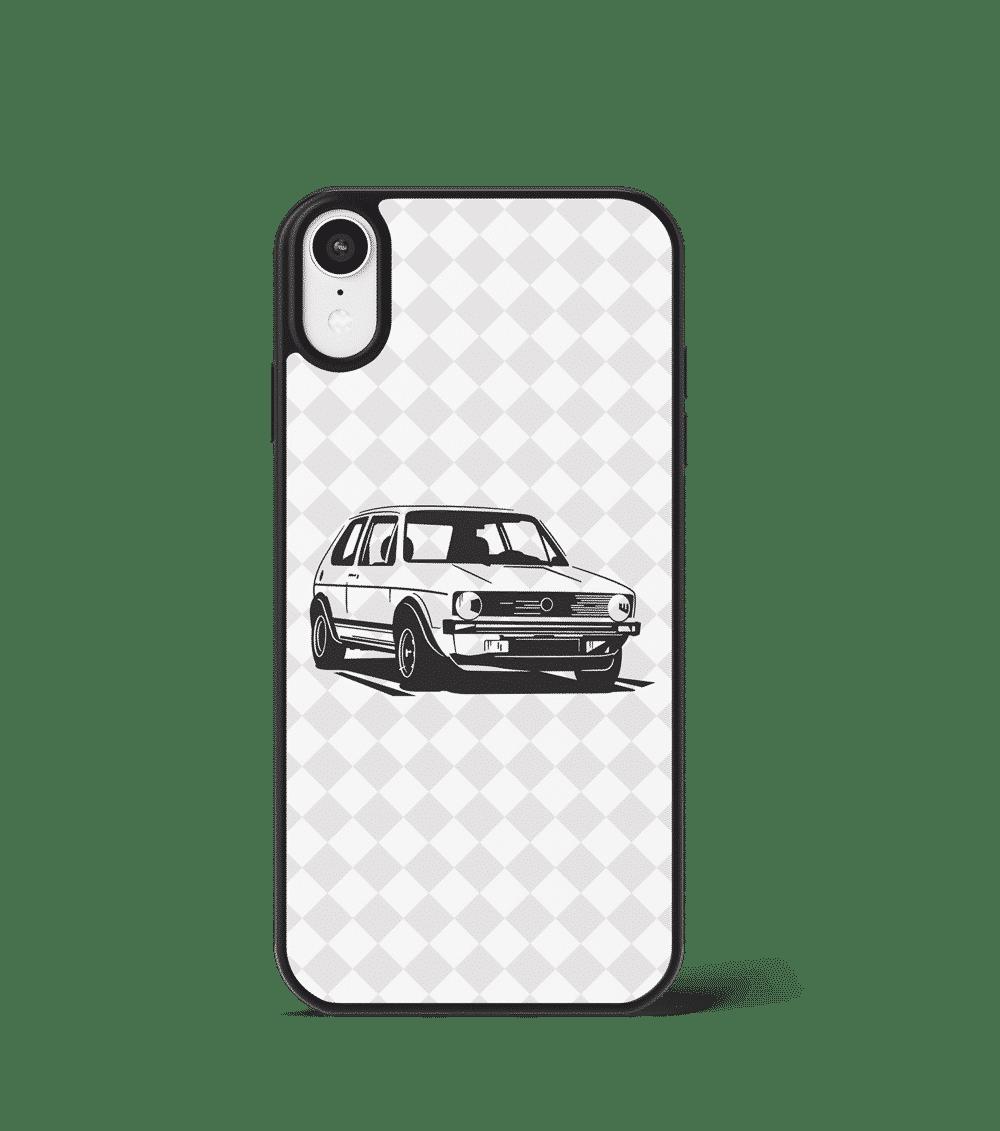 Case GLASS na telefon z Volkswagenem Golfem GTI