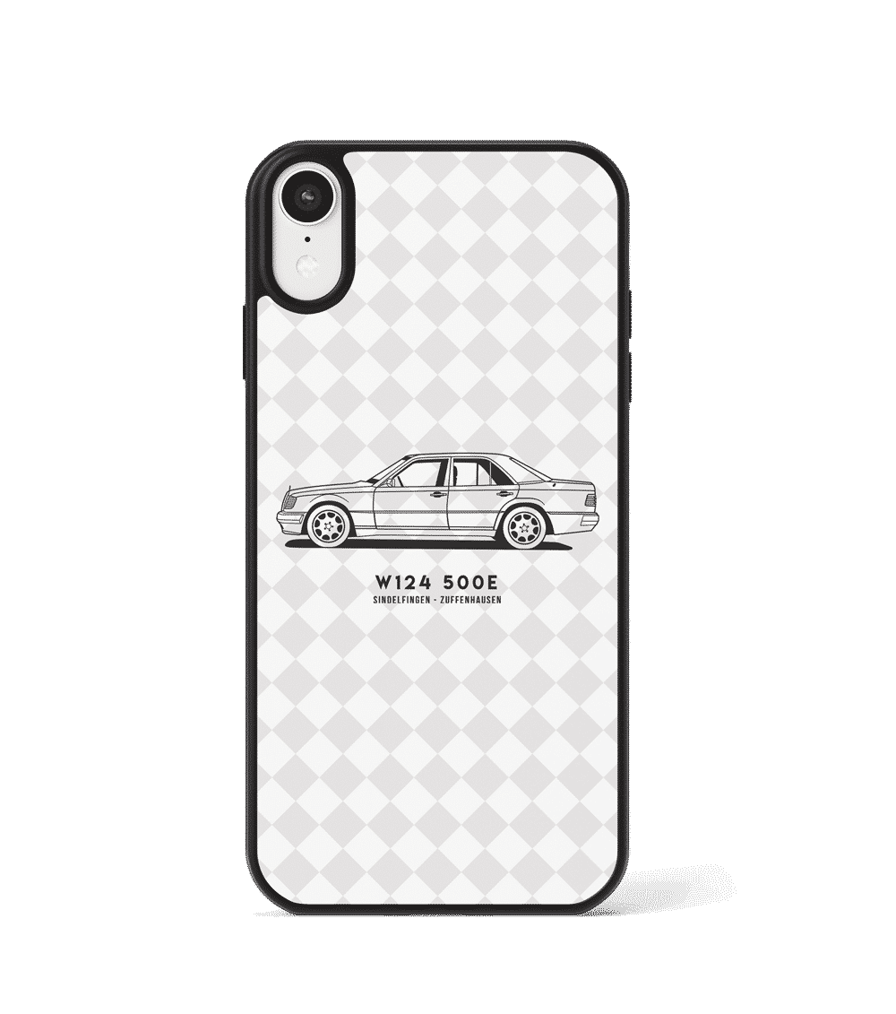 Case GLASS na telefon z Mercedesem 124