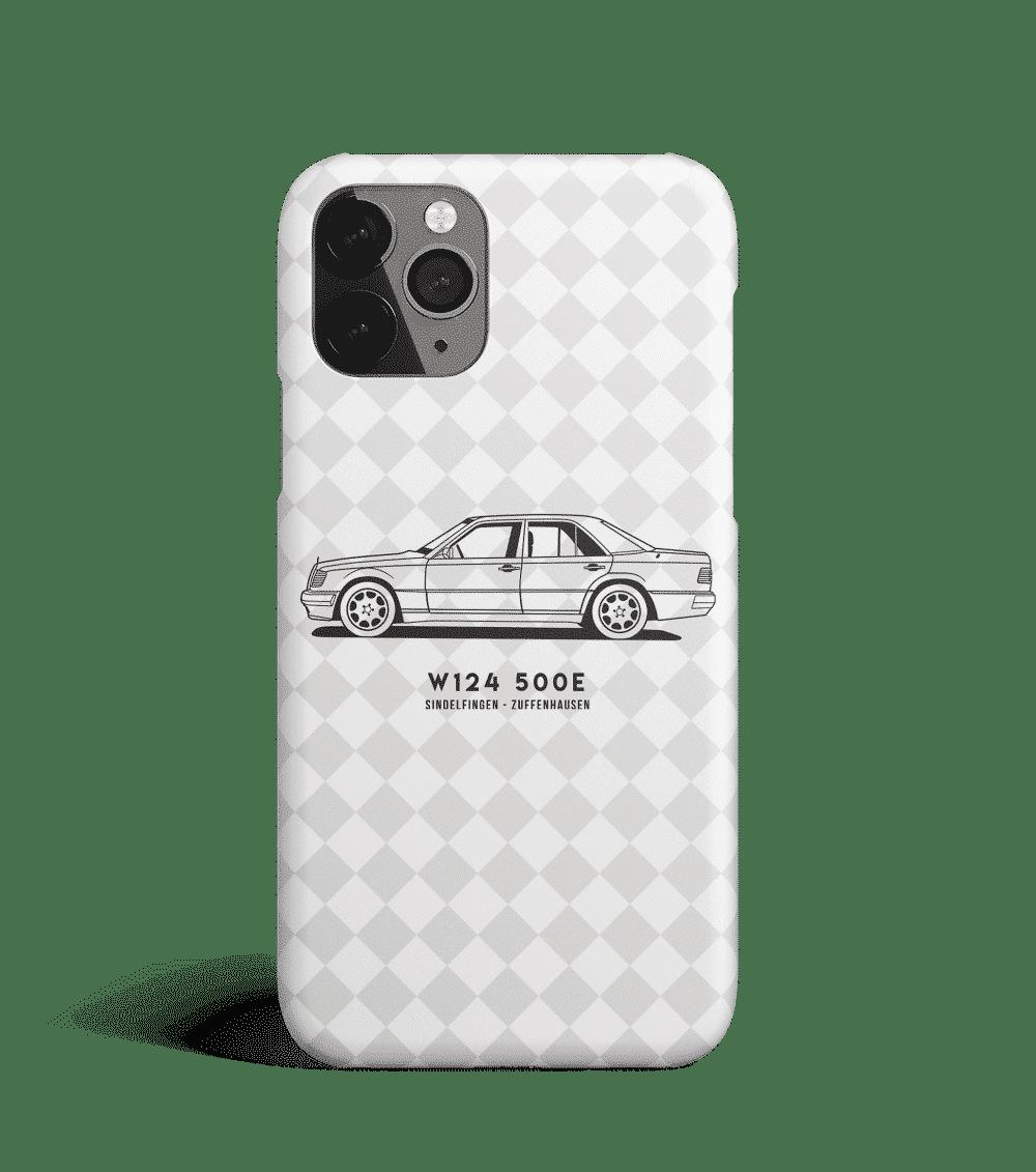 Case na telefon z Mercedesem W124 500E
