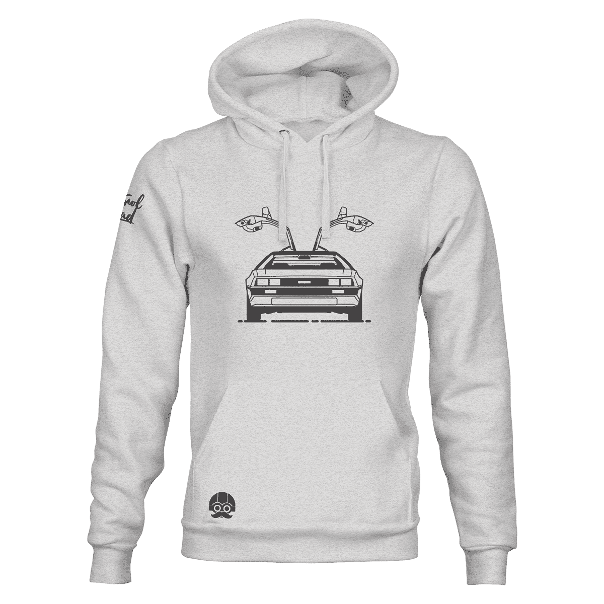 Bluza męska kangurka z DeLorean'em